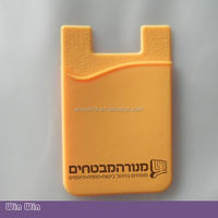 Removable promotional 3M Sticker Smart Mobile phone cardboard cellphone holder for Cards, Cash, ID Card