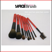 hair brush makeup brush with wooden handle (free samples)