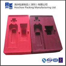 Factory Flocking Trays Cosmetic High Quality Packaging Plastic Flocked Blister Tray For Cosmetics Bottle