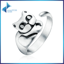 Cat Pussy Open Finger Rings for Women 925 Sterling Silver rings jewelry