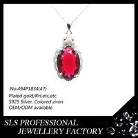 mystery evil eyes red glass pendant necklace personalized modern pendant necklace