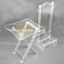 Clear acrylic folding chair and tea table, personalized acrylic furniture