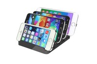 Multi Device 4 Port USB Charging Station Dock for Smartphone, iPhone, iPad, Samsung Galaxy, Tablet PC and more