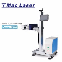MAC high quality moving 30 watt CO2 laser marking / printing machine for wood carvings