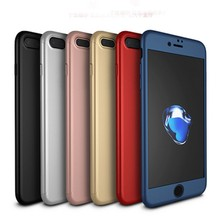 Newest ipaky 360 Case Full Body Protective with tempered Glass Phone Case for iPhone 7