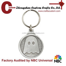 Custom iron stamped blank silver key chains