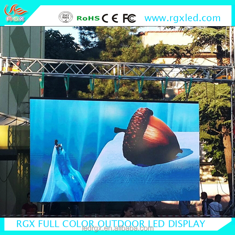 Shenzhen RGX china marketplace led video/ photo backdrop P5 P6 P8 P10 outdoor rental led display