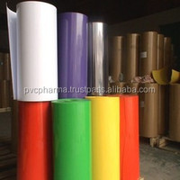Pharmaceutical packing PVC amber and green color rigid pvc plastic film