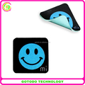microfiber screen cleaner with colorful glue QR Code on back side,sticky screen cleaner for iphone ipad