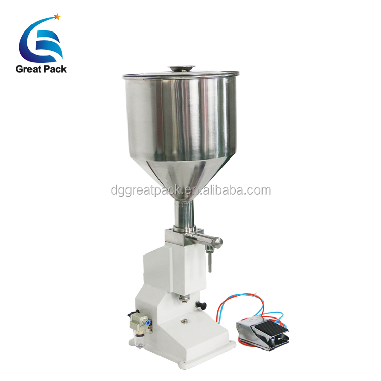 <strong>A02</strong> foot pedal cosmetic cream filling machine