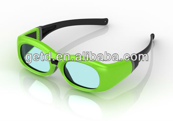 Perfect visual experience!! 3d eyewear with replaceable CR2032 battery design for kids --- GT610
