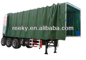 3 axles camping semi trailer