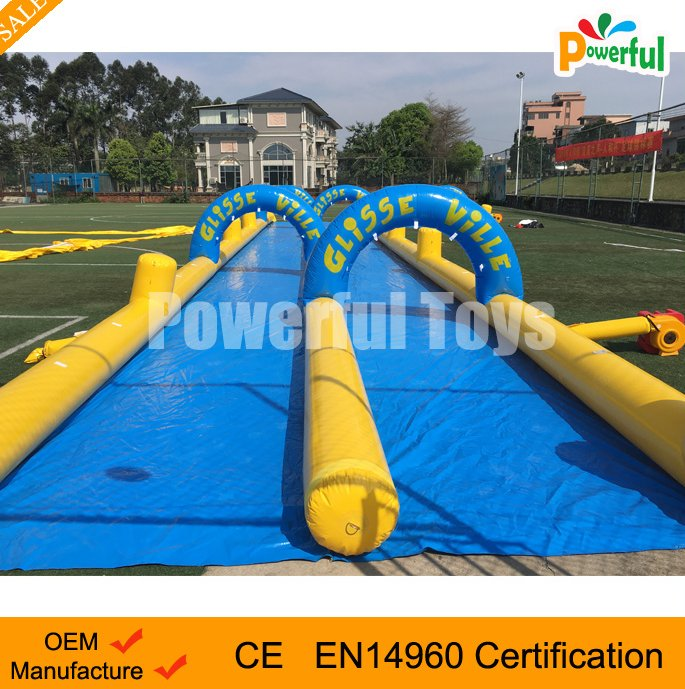 2016 crazy and popular giant inflatable adult water slip n slide