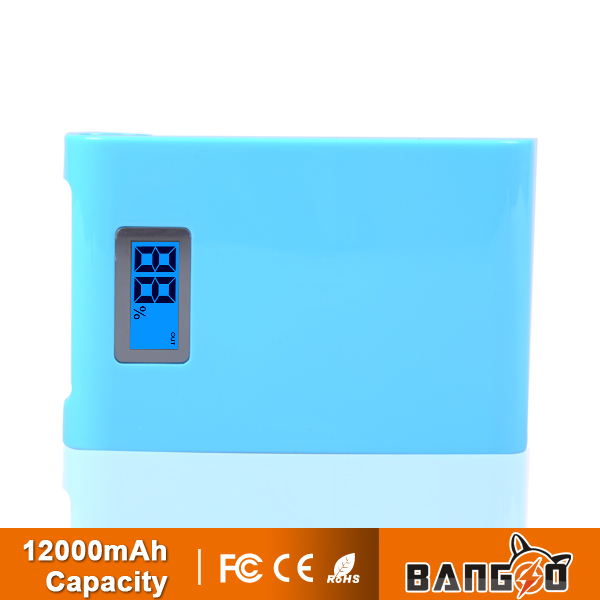 hottest newest High Capacity Portable Power Bank12000mAH for Mobile Phone