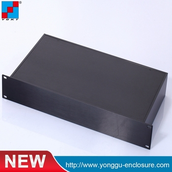 YGH-002--1.5u 482*66.7*250mm 19 Inch aluminum compact telecom cabinet rack mount chassis