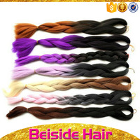 "1pieces 22"" 100g/pc Ombre expression Two Tone Jumbo Braid Synthetic Crochet Braiding Hair"