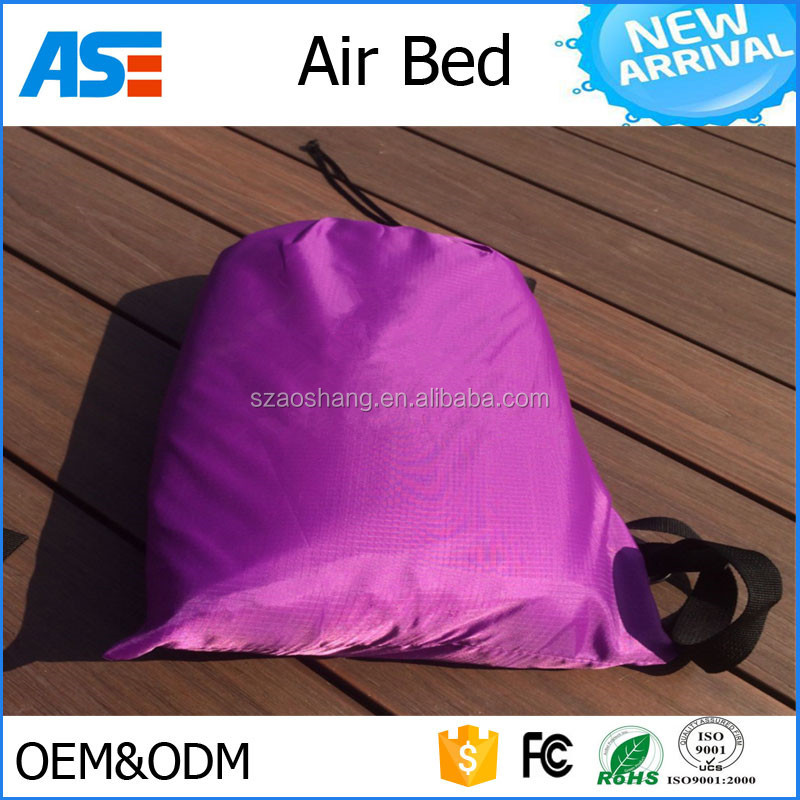 ASG factory direct selling beach camping air lounge sofa bed beach lay bag air bed with good price