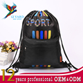 High capacity heat transfer printing sport stylish black wholesale strong drawstring school backpack for boys