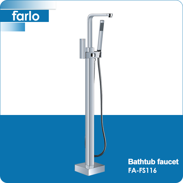 FARLO Modern Double Lever Brass Floor Stand used bathtub faucets