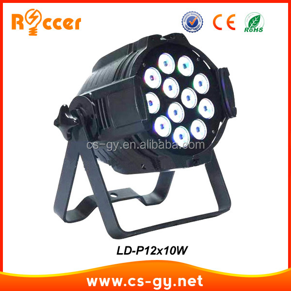 led lighting Aluminum casting with double holder led par64 light 12x10w