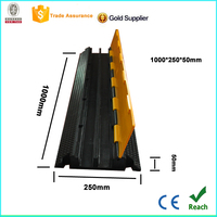 Top sale 2 channel rubber cable protector ramp