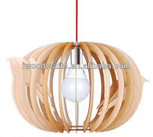 NEW! Creative Wood Caged simple Chandelier Lighting- Stunning Effect- Pretty IW-CB008