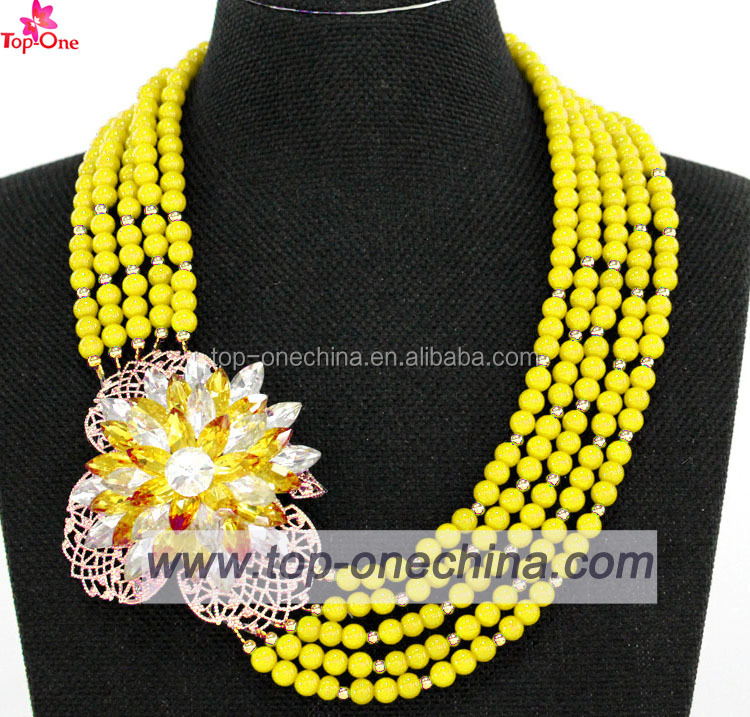 2017 Hot Selling Heavy African Gold Plating Jewelry Set Beads Bridal Jewelry Set