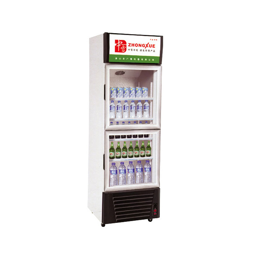 upright double doors display refrigerator beverage showcase price
