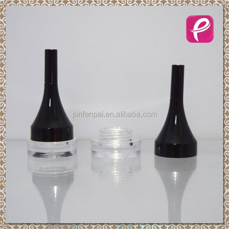 Beautiful plastic cosmetic empty eyeliner container with brush