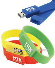 Fashion silicone wristband bracelet USB Flash Drive with OEM logo , suitable for promotion gift (PY-U-027)