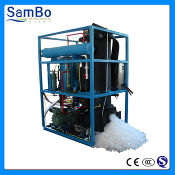 Large tube ice making machine for cold drinks and food preservation with adjustable ice size