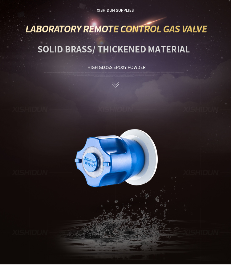 6607  Lab Brass Remote Control Gas Safety Valve Fitting
