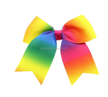 Hot selling ombre rainbow cheerbow for cheerleading girls