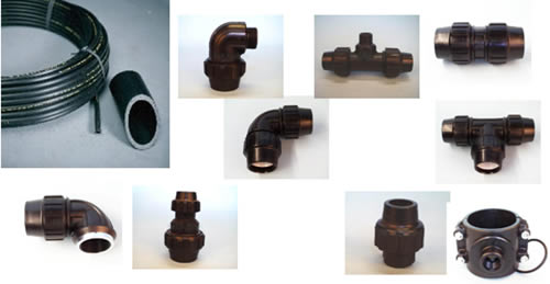 Irrigation pipe fitting