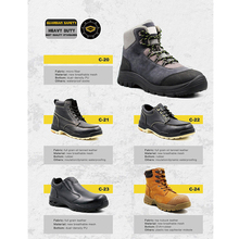 Safety Boots Men Hard Work Shoes with Steel Toe Cap