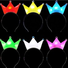 Cute LED crown party headbands light up hair accessories led light headband