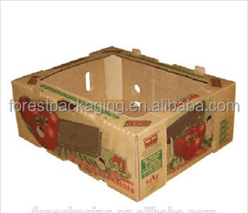 Wholesale Printed Waxed Corrugated Tomato Packaging Box Manufacturer