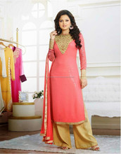 Madhubala In Party wear Palazzo Semi Stitch Salwar Kameez Collections