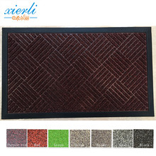 Waterproof PP surface with ruber backing anti-slip door mat price
