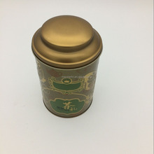 Wholesales round green tea storage tin box