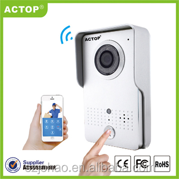ACTOP 2015 access control long range smart home wifi peephole wireless video door phone intercom
