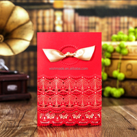 wonderful wedding card with embossed decoration design CW6031