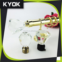 Special crystal curtain finial and accessories,Wire Curtain pole, Curtain Rod Wholesale