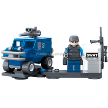 2016 Newest Block Arrival! GBL Swat Theme Explosion-proof special police and Jeep Car Building Block Set 104PCS Construction Toy