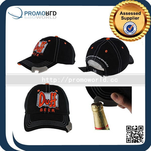 Promotion Gifts sample free brimless Bottle Opener Baseball Cap with logo private lable Custom baseball cap with bottle opener