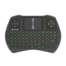 Back-light 2.4GHz Wireless Mini Keyboard with Touch pad Mouse Rechargeable Li ion Battery For PC, Pad, TV BOX gaming keyboard