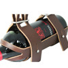 Genuine Simple Style Leather Wine Holder