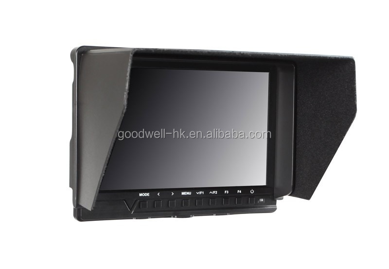 New Popular 1920x 1200 IPS Panel Full HD 7 Inch LCD Monitor with Sun Shade for Outdoor Shooting