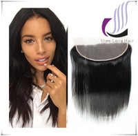 High Quality Natural Color 100% Virgin Hair Closure Straight 13*4 Ear to Ear Full Lace Frontal Closures