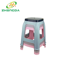 Wholesale cheap all size stackable colorful bathroom plastic stool